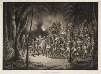 Procession de la Déesse Kali.
