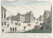 Vue de la haute Ville a Quebeck avec la Place pour aller a Cavalier du Moulin; and Vue de la Place Capitale dans la Ville Basse a Quebeck