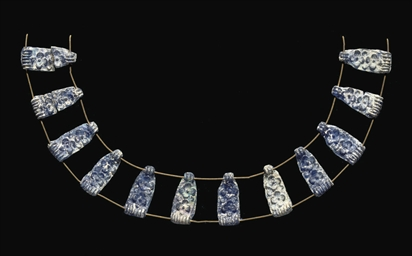 TWELVE MYCENAEAN BLUE CAST GLA