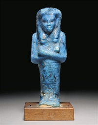 AN EGYPTIAN BLUE GLAZED COMPOS