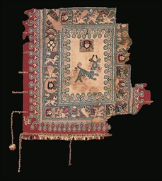 A COPTIC POLYCHROME TAPESTRY S