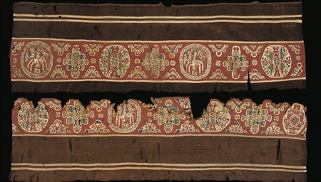TWO LARGE COPTIC TEXTILE BORDE