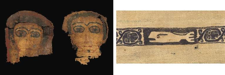 TWO COPTIC TEXTILE FRAGMENTS W