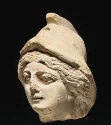 A ROMANO-EGYPTIAN LIMESTONE HE