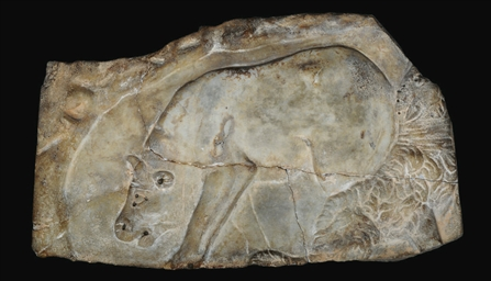 A ROMAN MARBLE BUCOLIC RELIEF