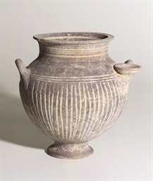 A GREEK GREY SLIP PAINTED WARE