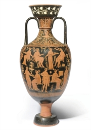 AN APULIAN RED-FIGURE AMPHORA