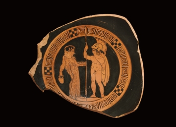 AN ATTIC RED-FIGURE CUP TONDO