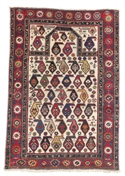 An antique Dagestan prayer rug