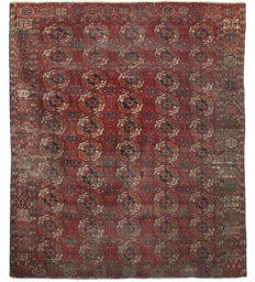 An antique Tekke carpet