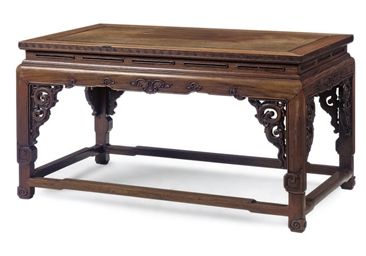 A CHINESE PADOUK LOW TABLE