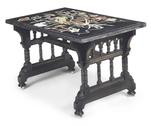 A MARBLE TOP CENTRE TABLE