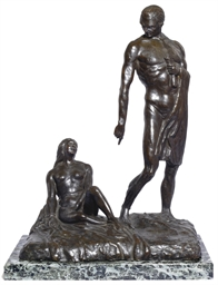 A FRENCH BRONZE GROUP OF A CHA