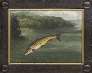Netted trout; and On the line