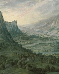 An extensive mountainous lands