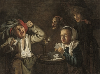 An interior with children play