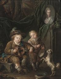 Children making music in an in