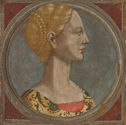 Head of a lady, in a feigned o