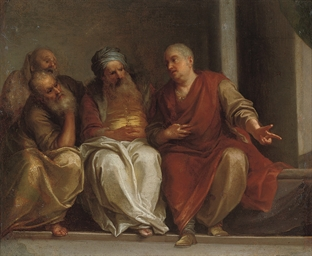 Four philosophers conversing
