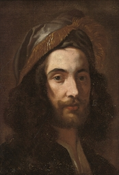 Head of a man in a silk cap