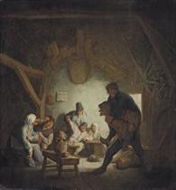 Boors carousing in an inn