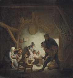 Boors carousing in an inn