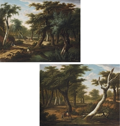 A forest landscape with a sold