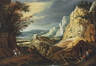An extensive landscape with tr