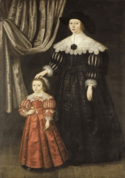 Double portrait of a lady and