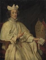 Portrait of Herman Joseph van der Porter, Abbot of Saint Michael's, Antwerp, three-quarter-length, seated, in the Norbertine habit, with his episcopal mitre
