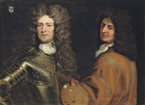 Double portrait of the artist, half-length, with a palette and brushes and Brigadier-General Robert Killigrew (1660-1707), half-length, in armour