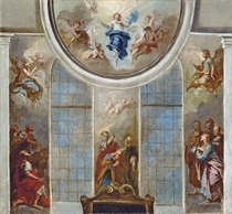 The Ascension: a modello for the apse and cupola of St. Peter-at-Arches, Lincoln