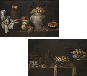 Fish, fruit, a barrel and eart