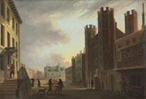 View of St. James's Palace, London, Pall Mall beyond