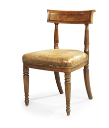A REGENCY MAHOGANY SIDE CHAIR