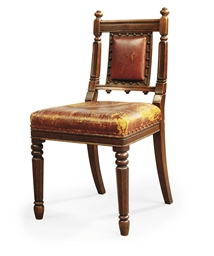 THREE REGENCY OAK SIDE CHAIRS