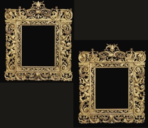 A PAIR OF ITALIAN GILTWOOD FRA