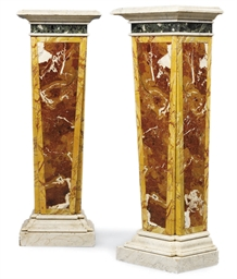 A PAIR OF ITALIAN JASPER AND M
