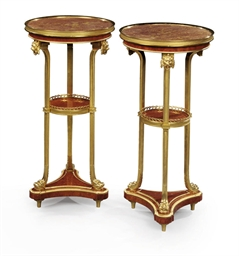 A PAIR OF FRENCH ORMOLU, BROCA