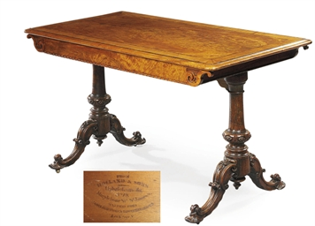 AN EARLY VICTORIAN SATINWOOD,