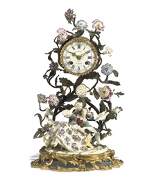 A LOUIS XV ORMOLU AND MEISSEN
