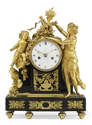 A LOUIS XVI ORMOLU AND BLACK M