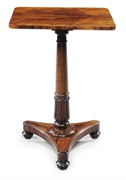 A REGENCY ROSEWOOD OCCASIONAL