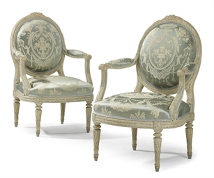 A PAIR OF LOUIS XVI WHITE AND