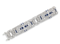AN ART DECO SAPPHIRE AND DIAMOND BRACELET, BY RAYMOND YARD