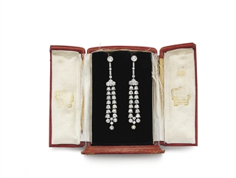 A PAIR OF BELLE EPOQUE DIAMOND