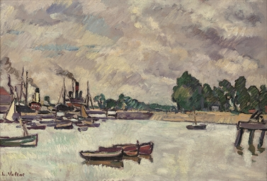 Trois barques dans le Port de