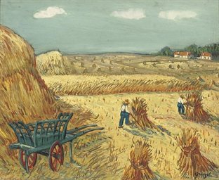 La moisson, Hommage à Van Gogh