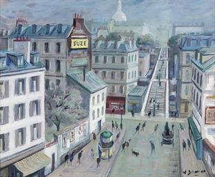 Les escaliers à Montmartre