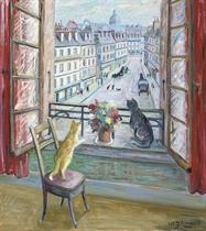 Chats à la fenêtre, Paris